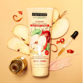 Cleansing Apple Cider Vinegar Clay Mask and Scrub (175ml)
